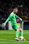 Goalkeeper Stephan Andersen of FC Copenhague in action during the UEFA Europa League 2017-18 Round of 32 (2nd leg) match between Atletico de Madrid and FC Copenhague at Wanda Metropolitano  on February 22 2018 in Madrid, Spain. Photo by Diego Souto / Power Sport Images