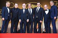 Christoph Waltz, Mads Mikkelsen, Thierry Fremeaux, Vincent Lindon, Benicio del Toro et Benoit Magimel sur le tapis rouge pour la soirée dans le cadre de la journée anniversaire de la 70e édition du Festival du Film à Cannes, Palais des Festivals et des Congres, Cannes, Sud de la France, mardi 23 mai 2017.