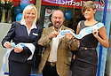 SIR BRIAN SOUTER IS HELPED BY BRANCH MANAGER SHIRLEY REID (LEFT) AND CLERICAL OFFICER NICOLE PATERSON AS HE OFFICIALLY OPENS THE NEW AIRDRIE SAVINGS BANK IN FALKIRK.<br /> <br /> THE BRANCH IS THE FIRST TO BE OPENED OUTSIDE THE UK'S ONLY INDEPENDENT BANK'S TRADITIONAL LANARKSHIRE BASE.