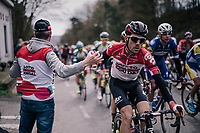 bidon for Maxime Monfort (BEL/Lotto-Soudal)<br /> <br /> 58th De Brabantse Pijl 2018 (1.HC)<br /> 1 Day Race: Leuven - Overijse (BEL/202km)