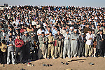 CHAMCHAMAL, IRAQ: Iraqi Kurds gather together to pray for rain...The current fall and winter have been extremely dry in northern Iraq.  A number of Islamic parties in the north of the country organized mass prayer gatherings to combat the coming drought...Photo by Ari Mohammad/Metrography