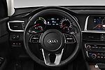 Car pictures of steering wheel view of a 2019 KIA Optima Sense  5 Door Wagon