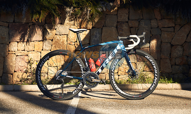 Trek Emonda one of the team bikes of the Trek–Segafredo 2021 womens team during their winter training camp. 18th January 2021.<br /> Picture: Trek Factory Racing | Cyclefile<br /> <br /> All photos usage must carry mandatory copyright credit (© Cyclefile | Trek Factory Racing)
