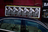 Brooklyn, New York<br /> April 20, 2010<br /> <br /> Park Slope advertisement for a Lady Gaga concert on 5th Avenue.