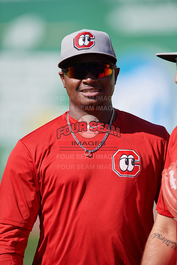 Chattanooga Lookouts pitcher Randy Rosario (25) during practice before a game against the Jackson Generals on April 27, 2017 at The Ballpark at Jackson in Jackson, Tennessee.  Chattanooga defeated Jackson 5-4.  (Mike Janes/Four Seam Images)
