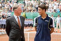 13-7-08, Scheveningen, ITS, Tennis Siemens Open 2008, Jesse Huta Galung met toernooi directeur Ivo Pols