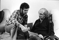 File Photo circa 1970 - Montreal, Quebec - Robert Charlebois  and French singer Leo Ferre