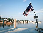 USA, Neuengland, Hafen von Stonington, Deer Isle, Maine, 02.09.2010<br /> <br /> Engl.: USA, New England, Maine, Stonington, Deer Isle, harbor, flag, 02 September 2010