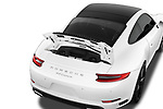 Car Stock 2017 Porsche 911 Carrera-Coupe 2 Door Coupe Engine  high angle detail view