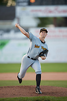 West Virginia Black Bears starting pitcher Mitch Keller (41) delivers a warmup pitch during a game against the Batavia Muckdogs on June 24, 2017 at Dwyer Stadium in Batavia, New York.  The game was suspended in the bottom of the third inning and completed on June 25th with West Virginia defeating Batavia 6-4.  (Mike Janes/Four Seam Images)