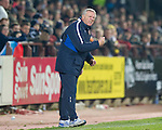 Hearts v St Johnstone...29.01.11  .Jim Jefferies urges his players on.Picture by Graeme Hart..Copyright Perthshire Picture Agency.Tel: 01738 623350  Mobile: 07990 594431