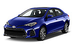 2018 Toyota Corolla XSE-AT 4 Door Sedan Angular Front stock photos of front three quarter view