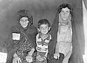 Iran 1975 Members of the  Rowanduzi family arriving in Iran as refugees, 2 women and a young boy : in Ourmieh, mother with son Gerul and sister Hiwa.<br /> Iran 1975  Des femmes  et un jeune garcon, membres de la famille d'Abdul Wahab Rowanduzi arrivent en Iran comme réfugiés<br /> ئیران 1975 , بنه ماله ی عه بدلوه هاب ئاغا روواندوزی ده گه نه ئیران ، ده بنه په نابه ری سیاسی