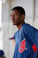 Abner Abreu -  Cleveland Indians - 2009 spring training.Photo by:  Bill Mitchell/Four Seam Images