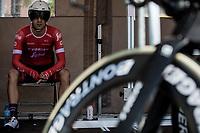 Ruben Guerreiro (POR/Trek Segafredo) awaits his turn to start his TT. <br /> <br /> Binckbank Tour 2018 (UCI World Tour)<br /> Stage 2: ITT Venray (NL) 12.7km