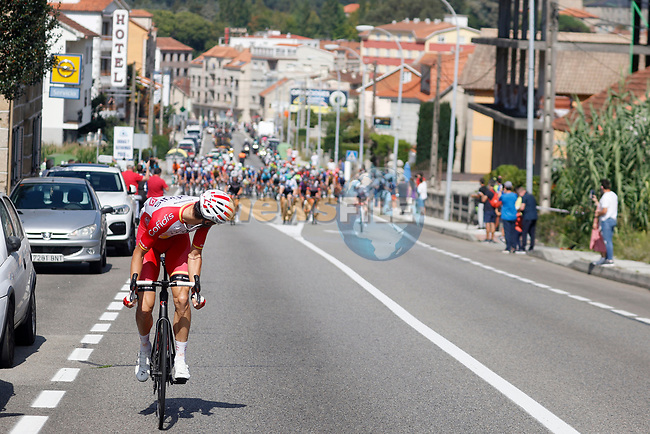 Jesus Herrada (ESP) Cofidis escapes during Stage 20 of La Vuelta d'Espana 2021, running 202.2km from Sanxenxo to Mos, Spain. 4th September 2021.    <br /> Picture: Luis Angel Gomez/Photogomezsport | Cyclefile<br /> <br /> All photos usage must carry mandatory copyright credit (© Cyclefile | Luis Angel Gomez/Photogomezsport)