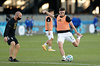 SAN JOSE, CA - SEPTEMBER 16: Jaroslaw Niezgoda #11 of the Portland Timbers during warmups before a game between Portland Timbers and San Jose Earthquakes at Earthquakes Stadium on September 16, 2020 in San Jose, California.