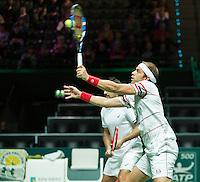 Rotterdam, The Netherlands, February 12, 2016,  ABNAMROWTT, Nedad Zimonij (SRB) / Gilles Muller (LUX)<br /> Photo: Tennisimages/Henk Koster