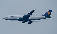 Boeing 747-800 der Lufthansa - Frankfurt 13.07.2021: Trainingslager der Deutschen  Olympia-Nationalmannschaft für Tokio 2021