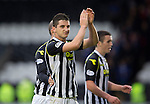 St Mirren v St Johnstone...19.10.13      SPFL<br /> Kenny McLean applauds the fans at full time<br /> Picture by Graeme Hart.<br /> Copyright Perthshire Picture Agency<br /> Tel: 01738 623350  Mobile: 07990 594431