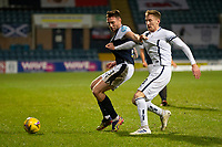 29th December 2020; Dens Park, Dundee, Scotland; Scottish Championship Football, Dundee FC versus Alloa Athletic; Jordan McGhee of Dundee challenges for the ball with Liam Dick of Alloa Athletic