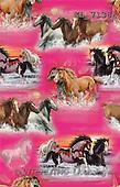 Interlitho, Daniela, GIFT WRAPS, paintings, horses, pink fond(KL7138,#GP#) everyday