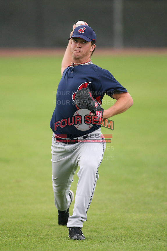 March 20th 2008:  Steven Wright of the Cleveland Indians minor league system during Spring Training at Chain of Lakes Training Complex in Winter Haven, FL.  Photo by:  Mike Janes/Four Seam Images