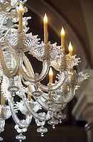 Europe/Italie/Lac de Come/Lombardie/Cernobbio : Villa d'Este (XVI°) - Lustre du hall