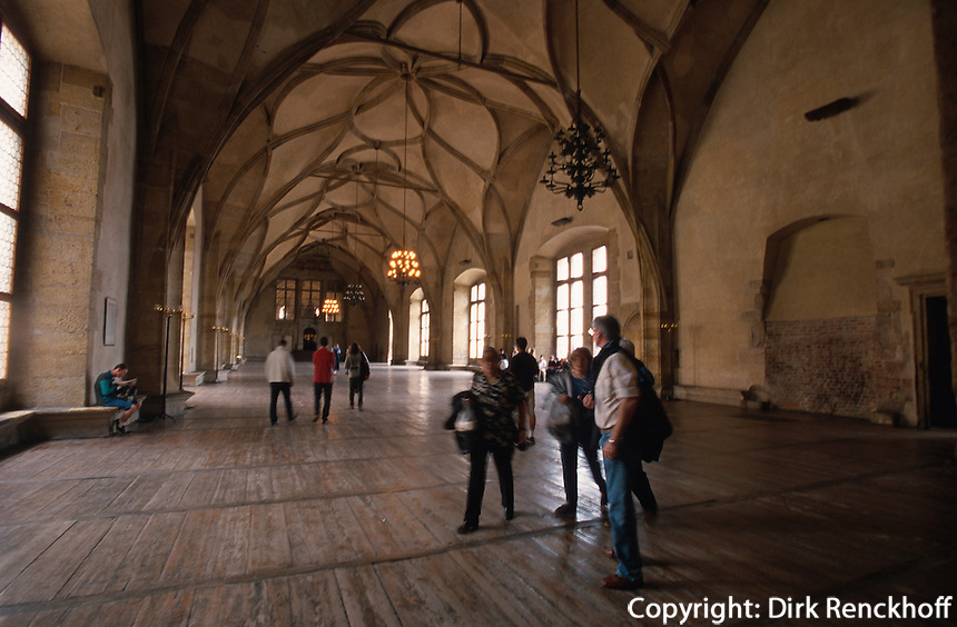 Hradschin, Vladislav-Saal, Prag, Tschechien, Unesco-Weltkulturerbe.