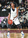Southern Lady Jaguars guard Freda Allen (40) in action during the SWAC Tournament game between the Southern Lady Jaguars and the Alabama State Hornets at the Special Events Center in Garland, Texas. Southern defeats Alabama State 58 to 39.