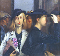 American Painters:  Raphael Soyer--Office Girls, 1936.  Oil on canvas.  Whitney Museum.