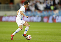 TORONTO, ON - OCTOBER 15: Daniel Lovitz #5 of the United States turns with the ball during a game between Canada and USMNT at BMO Field on October 15, 2019 in Toronto, Canada.