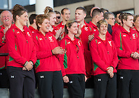 Wednesday September 10, 2014 <br /> Picture: Commonwealth Games: Team Wales, Michaela Breeze <br /> RE: Team Wales athletes attend a Commonwealth Games homecoming ceremony at the Senedd, Cardiff, South Wales, United Kingdom.