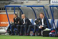 VOETBAL: HEERENVEEN: Abe Lenstra Stadion, 21-10-2012, SC Heerenveen - FC Groningen, Einduitslag 3-0, Marco van Basten, Henk Herder (ass. trainer/coach) Jan de Jonge (ass. trainer/coach),  Herman van Dijk (Elftalleider)©foto Martin de Jong