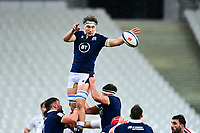 26th March 2021, Stade de France, Saint-Denis, France; Guinness 6-Nations international rugby, France versus Scotland;  Jamie Ritchie (Sco) wins a line out ball