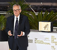 CANNES, FRANCE. July 17, 2021: Marco Bellocchio at the photocall for Cannes Awards 2021 at the 74th Festival de Cannes.<br /> Picture: Paul Smith / Featureflash