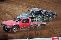 Mar. 20, 2011; Chandler, AZ, USA;  LOORRS pro four driver John Harrah leads Johnny Greaves during round two at Firebird International Raceway. Mandatory Credit: Mark J. Rebilas-
