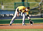 Amarillo Sox Infielder Matthew Tucker (9) in action during the American Association of Independant Professional Baseball game between the Amarillo Sox and the Fort Worth Cats at the historic LaGrave Baseball Field in Fort Worth, Tx. Fort Worth defeats Amarillo 5 to 3.