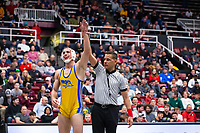 STANFORD, CA - March 7, 2020: Josh Loomer of Cal State Bakersfield during the 2020 Pac-12 Wrestling Championships at Maples Pavilion.