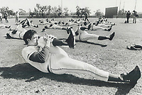 1977 FILE PHOTO - ARCHIVES -<br /> <br /> Getting players in shape for the long, 162-game season is the main reason for the sessions in the sun and team members do go through hours of physical training and exercises. But there's a second purpose to the camps that's almost as important, they serve to rekindle fan interest in the clubs and the game. So everybody is welcome to visit.<br /> <br /> <br /> Bezant, Graham<br /> Picture, 1977<br /> <br /> 1977<br /> <br /> PHOTO : Graham Bezant - Toronto Star Archives - AQP