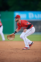 Batavia Muckdogs Evan Edwards (26) during a NY-Penn League game against the Auburn Doubledays on June 14, 2019 at Dwyer Stadium in Batavia, New York.  Batavia defeated 2-0.  (Mike Janes/Four Seam Images)