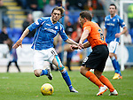 St Johnstone v Dundee United...26.09.15  SPFL   McDiarmid Park, Perth<br /> Murray Davidson and John Rankin<br /> Picture by Graeme Hart.<br /> Copyright Perthshire Picture Agency<br /> Tel: 01738 623350  Mobile: 07990 594431