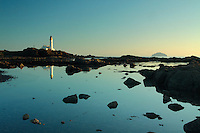 Turnberry Lighthouse and Turnberry Point at dusk, Ayrshire<br /> <br /> Copyright www.scottishhorizons.co.uk/Keith Fergus 2011 All Rights Reserved