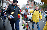 race winner Luca Paolini (ITA/Katusha) after the finish line<br /> <br /> 77th Gent-Wevelgem 2015