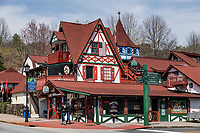 Helen, Georgia is a town modeled on a Bavarian alpine design motif that has made it a tourist attraction.