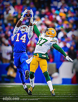 14 December 2014: Buffalo Bills wide receiver Sammy Watkins pulls in a pass for a 28-yard gain in the second quarter against the Green Bay Packers at Ralph Wilson Stadium in Orchard Park, NY. The Bills defeated the Packers 21-13, snapping the Packers' 5-game winning streak and keeping the Bills' 2014 playoff hopes alive. Ed Wolfstein Photo. Original shot Nikon D4 RAW (NEF)