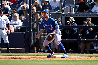 Toronto Blue Jays first baseman Patrick Kivlehan (46) during a Spring Training game against the New York Yankees on February 22, 2020 at the George M. Steinbrenner Field in Tampa, Florida.  (Mike Janes/Four Seam Images)