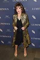 Dame Joan Collins<br /> arriving for the LUMINOUS Gala 2019 at the Roundhouse Camden, London<br /> <br /> ©Ash Knotek  D3522 01/10/2019