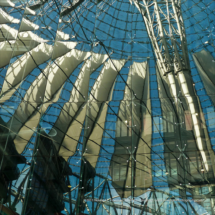 Reflections in Sony Center, Berlin