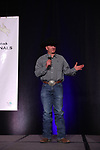 Heath LaFromboise during the bareback and saddle bronc back  number  presentation at the Junior World Finals Rodeo. Photo by Andy Watson. Written permission must be  provided  to use  this  photo  in any manner.